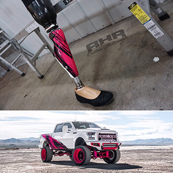 sema project truck with leg